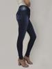 Calça Jeans Skinny Cintura Média Bolso Falso Frontal
