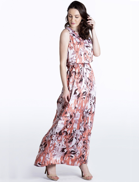 Vestido Longo Estampa Gloss