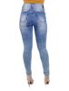 Calça Jeans Skinny  Lavagem Clara Cintura Alta