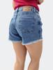 Shorts c/ Rasgos e Barra Desfiada